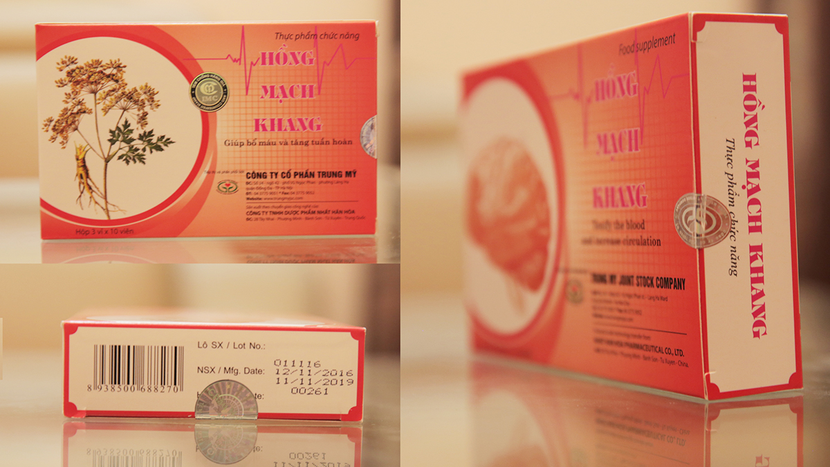 Tpbvsk Hồng Mạch Khang chính hãng có đầy đủ tem chống hàng giả
